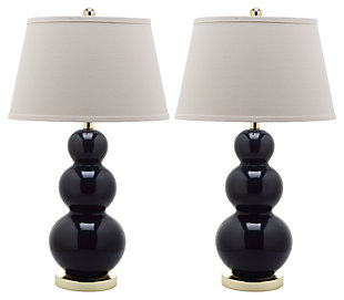 Waterloo Triple Gourd Ceramic Lamp (Set of 2), , large