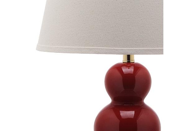 Waterloo Triple Gourd Ceramic Lamp (Set of 2), Sangria, large
