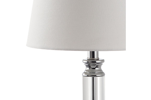Pillar Shaped Crystal Table Lamp (Set of 2), , large