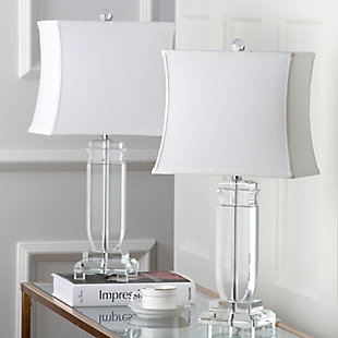 Harp Shaped Crystal Table Lamp (Set of 2), , rollover