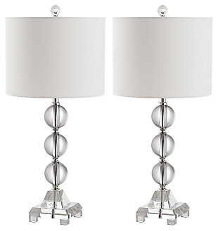 Three Orb Crystal Table Lamp (Set of 2), , large