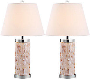 Cylinder Crystal Ball Table Lamp (Set of 2), , large