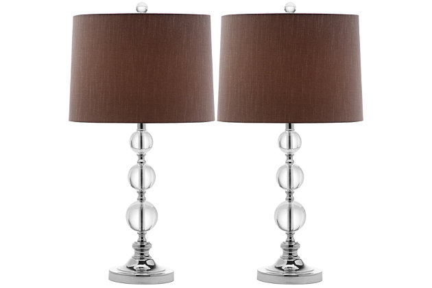 Stacked Crystal Ball Table Lamp (Set of 2), , large