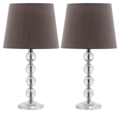 Stacked Crystal Ball Lamp (Set of 2), Gray, large