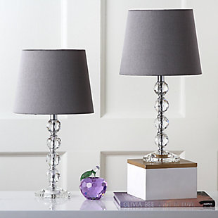 Stacked Crystal Ball Lamp (Set of 2), Gray, rollover