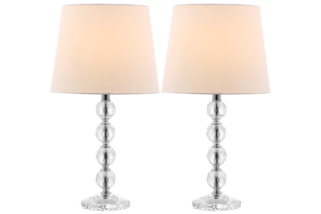 Stacked Crystal Ball Lamp (Set of 2), White, large