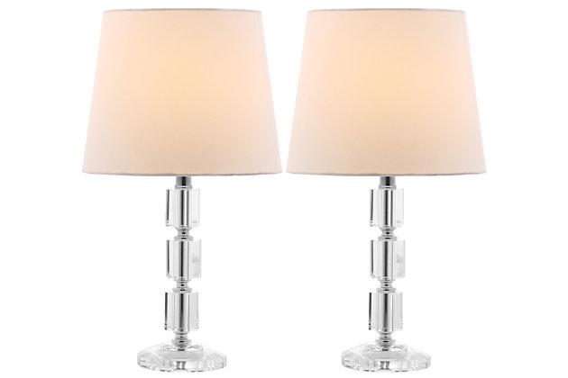 Crystal Cube Lamp (Set of 2), White, large
