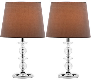 Stacked Crystal Orb Lamp (Set of 2), Gray, large