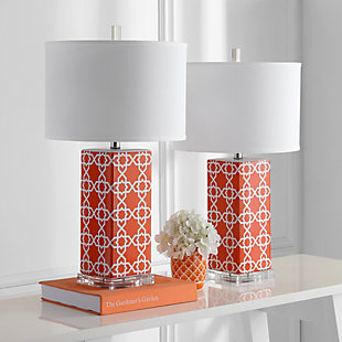 Lattice Table Lamp (Set of 2), Orange, rollover