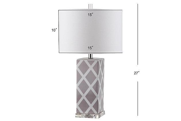 Garden Lattice Table Lamp (Set of 2), Gray, large