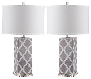 Garden Lattice Table Lamp (Set of 2), , large