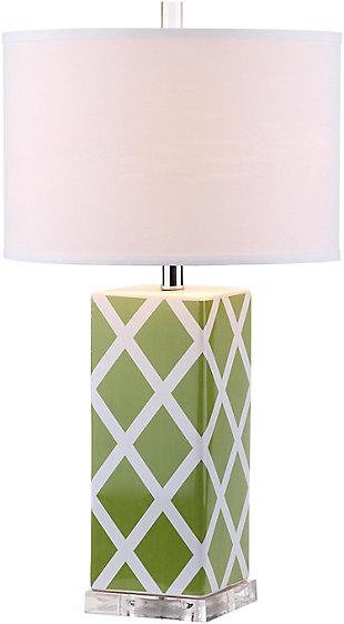 Garden Lattice Table Lamp (Set of 2), Avocado, large