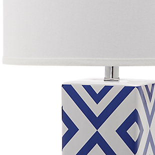 Diamond Patterned Table Lamp (Set of 2), Navy, large