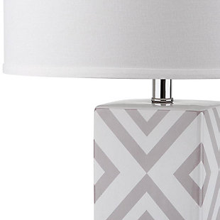 Diamond Patterned Table Lamp (Set of 2), Light Gray, large