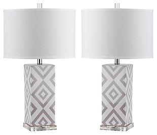 Diamond Patterned Table Lamp (Set of 2), , large