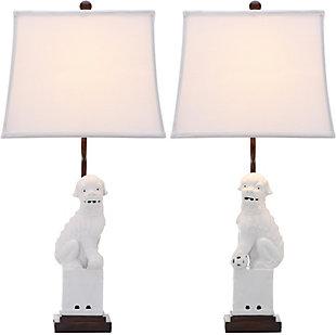 Foo Dog Table Lamp (Set of 2), White, large
