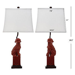 Foo Dog Table Lamp (Set of 2), Sangria, large