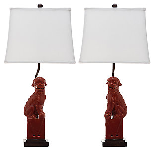 Foo Dog Table Lamp (Set of 2), , large