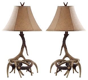 Faux Antler Table Lamp (Set of 2), , large