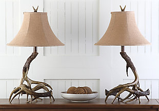 Faux Antler Table Lamp (Set of 2), , rollover