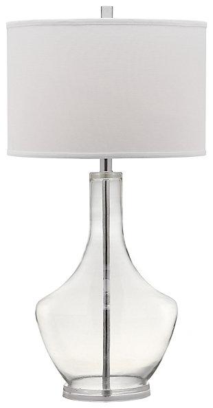 Urn Shaped Table Lamp, Transparent, large