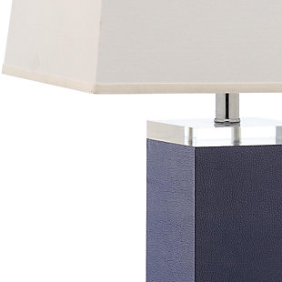 Faux Leather Table Lamp (Set of 2), Navy, large