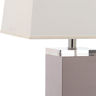 Faux Leather Table Lamp (Set of 2), Gray, large