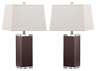 Faux Leather Table Lamp (Set of 2), , large