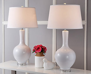 Gourd Shaped Lamp (Set of 2), Pearl, large