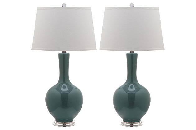 Gourd Shaped Lamp (Set of 2), Teal, large