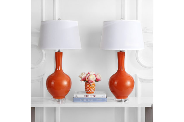 Gourd Shaped Lamp (Set of 2), Orange, large