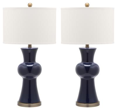 Ceramic Lamp (Set of 2), Navy, large