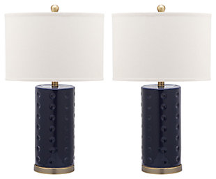 Cylinder Shaped Lamp (Set of 2), Navy, large