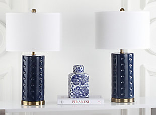 Cylinder Shaped Lamp (Set of 2), Navy, rollover
