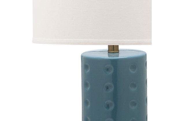 Cylinder Shaped Lamp (Set of 2), Teal, large