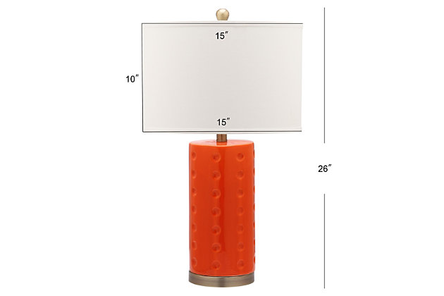 Cylinder Shaped Lamp (Set of 2), Cream, large