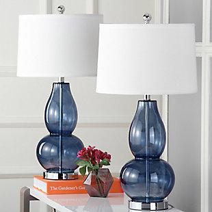 Double Gourd Lamp (Set of 2), Transparent Blue, large