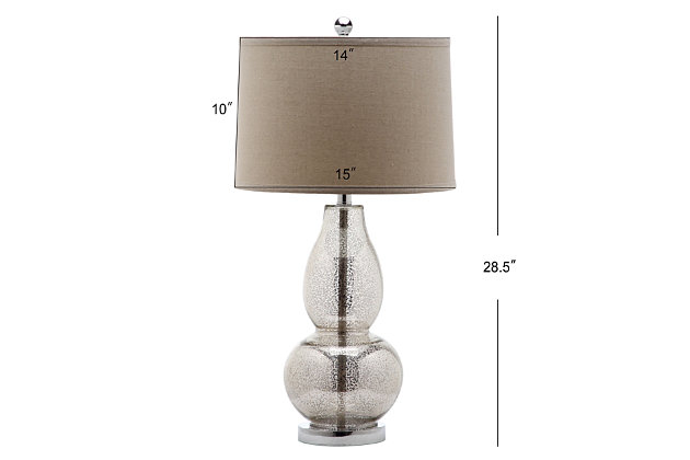 Double Gourd Lamp (Set of 2), Smoke, large