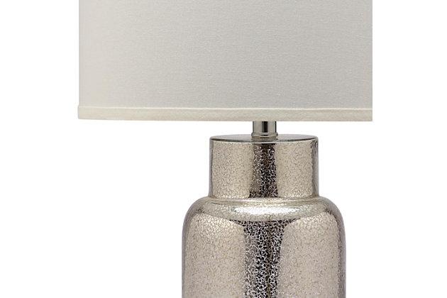 Cylinder Bottle Glass Table Lamp (Set of 2), Smoke, large