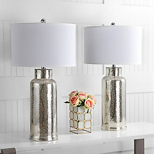 Cylinder Bottle Glass Table Lamp (Set of 2), Smoke, rollover
