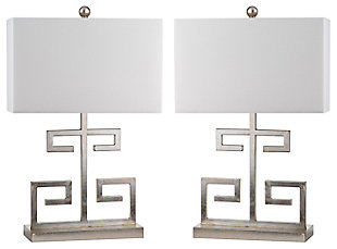 Metal Greek Key Table Lamp (Set of 2), , large