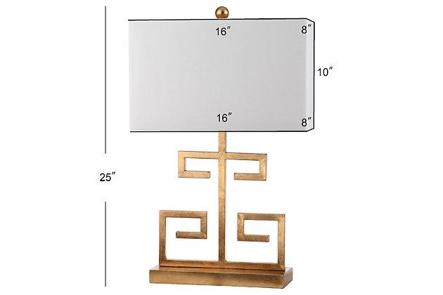 Metal Greek Key Table Lamp (Set of 2), Gold Finish, large