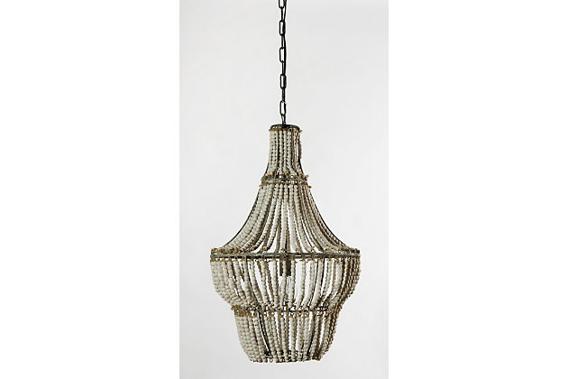 Home Accents Natural Beaded Chandelier, , large