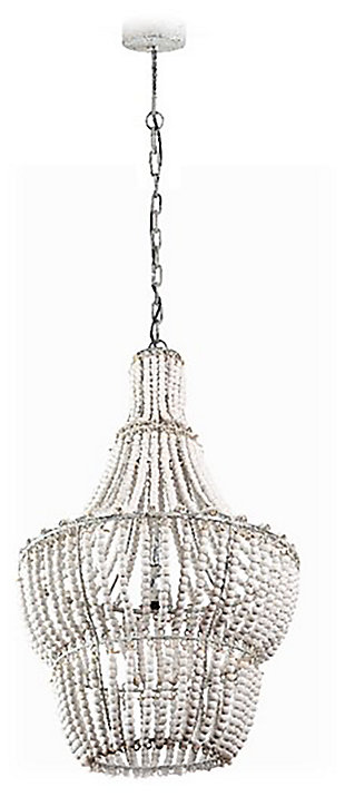 Exceptionnel Home Accents Natural Beaded Chandelier, ...