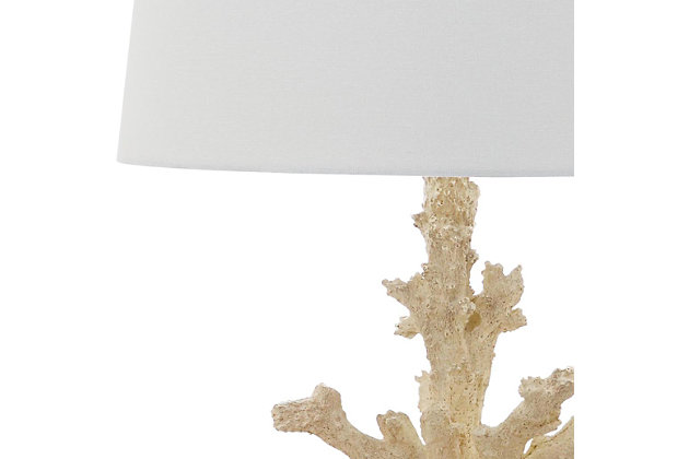 Coral Shaped Table Lamp (Set of 2), Cream, large