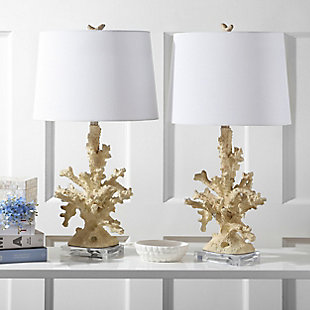 Coral Shaped Table Lamp (Set of 2), Cream, rollover