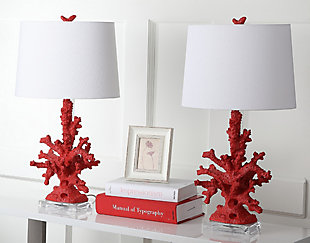 Coral Shaped Table Lamp (Set of 2), Sangria, large