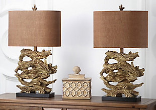 Faux Wood Table Lamp (Set of 2), , rollover