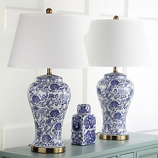 Spring Blossom Table Lamp (Set of 2), White/Navy, rollover