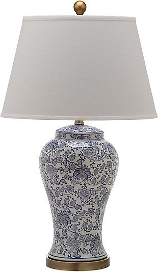 Spring Blossom Table Lamp (Set of 2), White/Navy, large